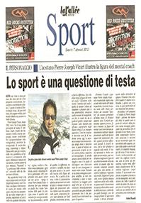 Lo sport è una questione di testa – La Vallée 7 gennaio 2012